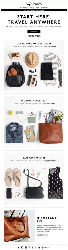 Madewell | newsletter | fashion email | fashion design | email | email marketing…
