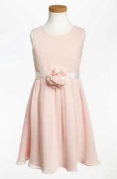 Us Angels Sleeveless Chiffon Dress (Little Girls & Big Girls) available at #Nordstrom // Size 12