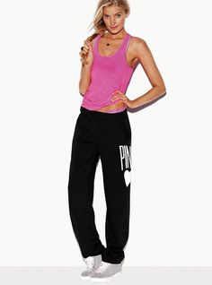 bought in charcoal gray and black to go with my new uggs. love the pant, i have in pink too! #victoriassecret #campuspant #sweatpant
