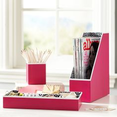 Could So DIY (This Preppy Paper Desk Accessories) -| PBteen