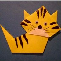 Origami Kitty is a good beginning Origami craft. We've added some details to make it even more fun.