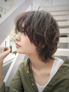 Pin on 髪型 Asian Short Hair, Short Thin Hair, Short Hair Cuts, Short Shaggy Haircuts, Short Bob Hairstyles, Hair Inspo, Hair Inspiration, Androgynous Hair, Mullet Hairstyle