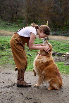Francie from Five Marys Farm loves her pups. Farm Animals, Cute Animals, Farm Kids, Farm Family, Farm Fashion, Farm Lifestyle, Future Farms, Farm Photography, Look Girl