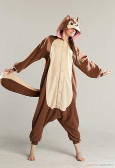 Adult onesies squirrel Kigurumi animal costumes
