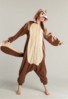 Adult onesies squirrel Kigurumi animal costumes