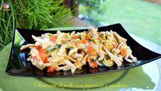 Straccetti di pollo con pepeproni e zucchine-ricetta secondi-golosofia
