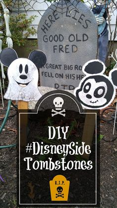 DIY #DisneySide Tombstones for Halloween | Home is Where the Mouse is