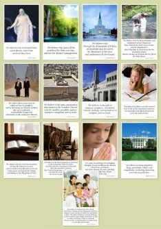 Primary  Articles of Faith cards Church of Jesus Christ of Latter Day Saints
