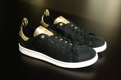 Got these Adidas Consortium x CLOT Stan Smith kicks this spring, black suede and gold leather. Luv em!