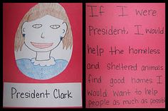 If I Were President Craft and Writing Activity