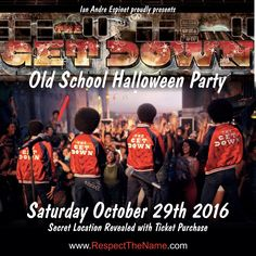 THE GET DOWN: Old School Halloween Costume Party Halloween Party Costumes, Halloween 2016, The Get Down, Secret Location, Old School