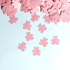 Teddy Bear Confetti Baby Shower Pink 450 by LaurelPhotoandCraft, $5.00