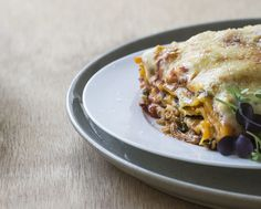 Chicken pumpkin lasagne
