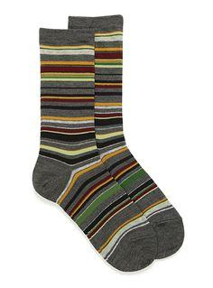 Colourful pinstripe socks 71dc3af008