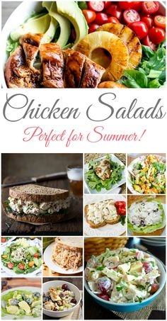 Fresh collection of delicious, easy chicken salad recipes. Perfect for summer and gluten free too! | teabiscuit.org