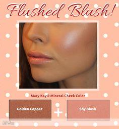 Blushing beauty.... Shy Blush & Golden Copper Shop: www.marykay.com/LaShon