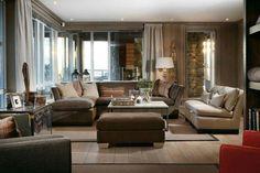 Гостинная Beautiful Living Rooms, Cozy Living Rooms, Living Area, Living Spaces, Chalet Interior, Interior Design, Log Homes, Family Room, Studio