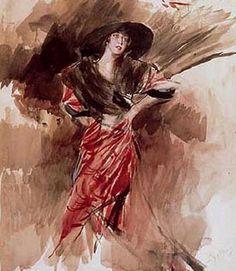 Giovanni Boldini - Lady in Red Dress, 1916