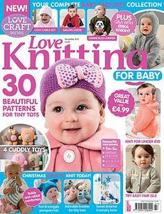 Love Knitting for Babies December 2015 - 轻描淡写 - 轻描淡写 Baby Knitting Patterns, Love Knitting, Knitting Books, Knitting Videos, Knitting For Kids, Knitting Designs, Baby Patterns, Knitting Projects, Knitting Hats