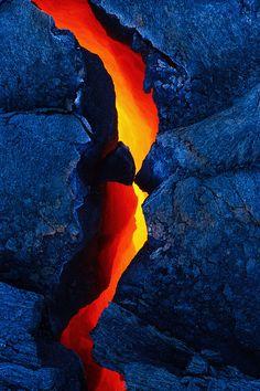 ~~Fractured ~ lava bench, volcano, Waikupanaha, Kalapana, Hawaii by Bruce Omori~~