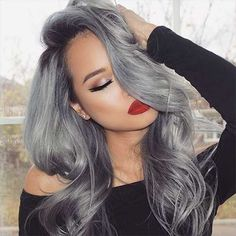 Shop our best value Grey Hair Color on AliExpress. Check out more Grey Hair Color items in Beauty & Health, Hair Extensions & Wigs, Toys & Hobbies, Home & Garden! And don't miss out on limited deals on Grey Hair Color! Grey Ombre Hair, Silver Grey Hair, Silver Blonde Hair Dye, Silver Ombre, Grey Wig, Weave Hairstyles, Cool Hairstyles, Hairstyles 2016, Black Hairstyles