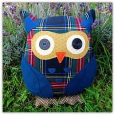 George a large owl cushion  owl pillow.  35cm by TheSherbetPatch