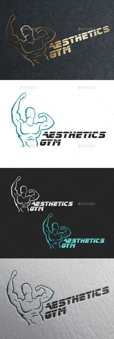 Fitness Gym Logo — Photoshop PSD #aerobic #fitness • Available here → https://graphicriver.net/item/fitness-gym-logo/9354749?ref=pxcr
