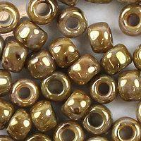 Toho Rocailles 6/0 Fb-Nr. Y 185 hybrid rauchbraun - gold gelüstert 5g - Glitzerperlen