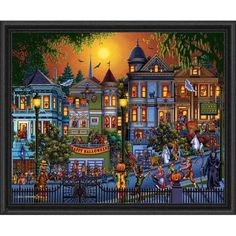 Dowdle Folk Art Trick or Treat Jigsaw Puzzle $18.99 Gift Idea for Kelly