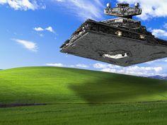 Imperial Star Destroyer attacks Windows XP
