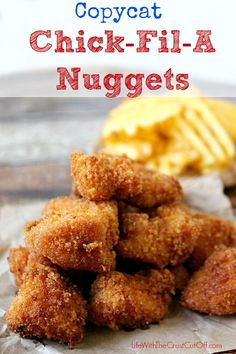 Copycat Chick-Fil-A Nuggets I have 4 special ingredients to make them taste just like everyone's favorite drive-thru nuggets!