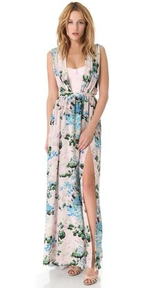 Peter Som Floral Gown with Exposed Bodicen // $2,540 is too much, but the style can be mimicked cheaply.