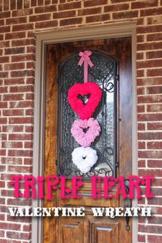 a little of this, a little of that: Triple Heart {Valentine} Wreath