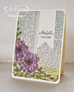Stampin' Up ideas and supplies from Vicky at Crafting Clare's Paper Moments: Choose Happiness - Stampin' Up! Artisan blog hop
