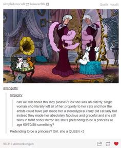 Madame Adelaide Bonfamille is who I want to be when I grow up. The Aristocats is one of my all time favorite disney movies, more so than most of the popular ones. Disney Pixar, Disney Memes, Disney And Dreamworks, Disney Love, Disney Magic, Disney Stuff, Kubo And The Two Strings, Disney Theory, Fandoms