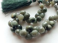 Cats Eye Stone Cats Eye Faceted Onion Briolettes by gemsforjewels
