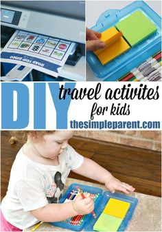 Travel Activities for Kids DIY travel activities are a great way to keep things in the car for your kids to do whenever you're on the road!DIY travel activities are a great way to keep things in the car for your kids to do whenever you're on the road!