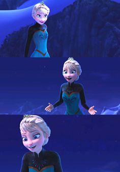 Elsa, during 'Let it Go.' Though there are about a thousand times where you pause it and her face is jacked up.