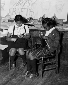 Girls engaged in knitting and making toy animals in the handicraft class of the St. Simon's Youth Center of the National Youth Administration, Philadelphia, Pennsylvania, 1941.