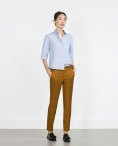 Image 1 of DOUBLE CLOTH TROUSERS from Zara