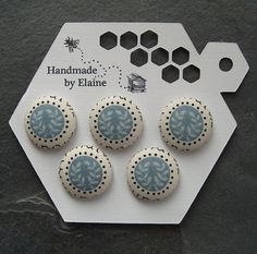 Fabric Covered Buttons  5 x 22mm buttons by HandmadeByElaine33
