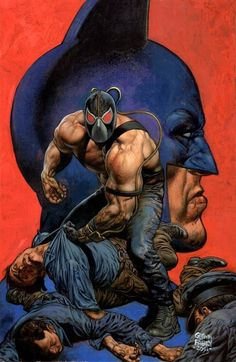 Bane & Batman by Glenn Fabry Comic Book Artists, Comic Book Characters, Comic Artist, Comic Books Art, Batgirl, Catwoman, Bane Batman, Im Batman, Harley Quinn