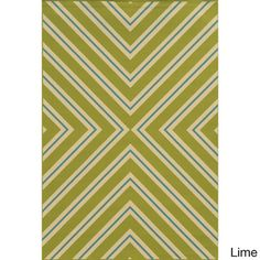 Indoor/ Outdoor Geometric Polypropylene Rug (3'7 x 5'6)   Overstock.com Shopping - Great Deals on Style Haven 3x5 - 4x6 Rugs