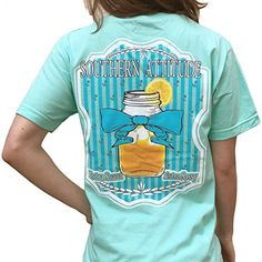 Amazon: Southern Attitude Sweet Tea Sea Foam Green Short S...