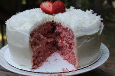Carolina Charm: Summer Strawberry Coconut Cake