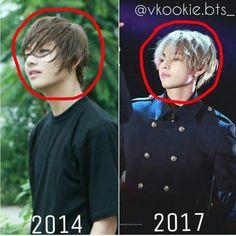 Taehyung antes e depois