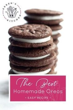 Biscuit Cake, Biscuit Recipe, Homemade Oreo Cookies, Cookie Recipes, Dessert Recipes, Oreo Biscuits, Cookie Sandwiches, Favorite Cookie Recipe, Whoopie Pies