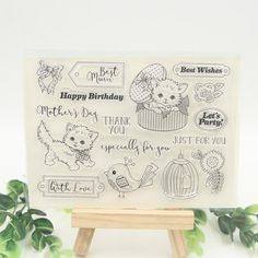 1 sheet DIY Cats Design Transparent Clear Rubber Stamp Seal Paper Craft Scrapbooking Decoration #Affiliate