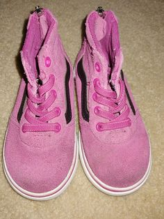 286c3fd375d8 VANS Off the Wall Toddler Girls Sz 6 US Pink High Top Zip Athletic Casual  Shoes