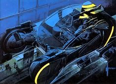 "Blade Runner ""Spinner"" concept illustration by Syd Mead"